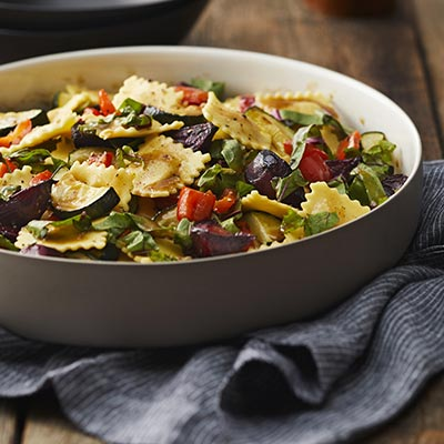 Root to Stem Roasted Vegetables and Pasta Salad